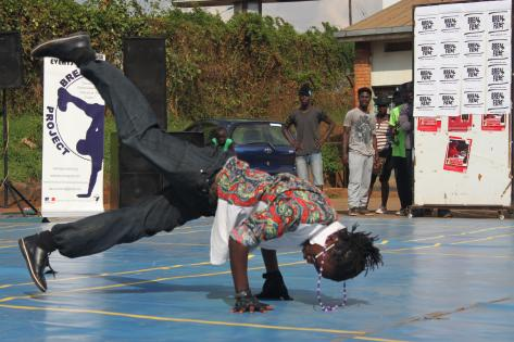 Breakdance event i Kampala ved Breakdance Project Uganda. Foto af Lisbeth Kristine Olesen